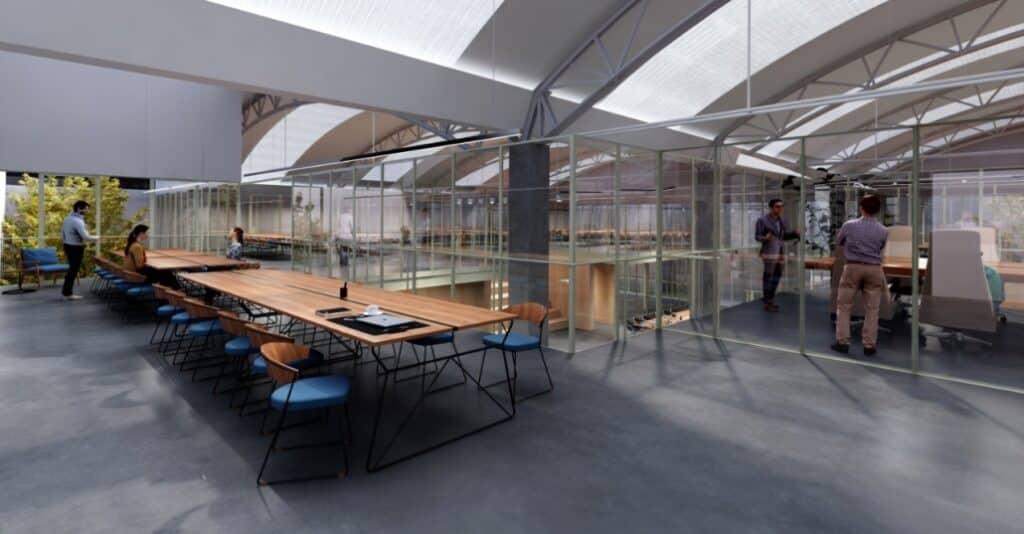 Espacios de colaboración dentro del proyecto de regeneración urbana Vallejo Properties