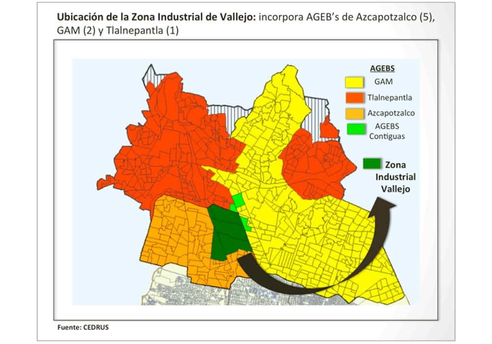 Mapa de Locales en renta CDMX Vallejo Properties