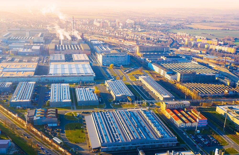 Zona industrial conformada por clústers Vallejo Properties